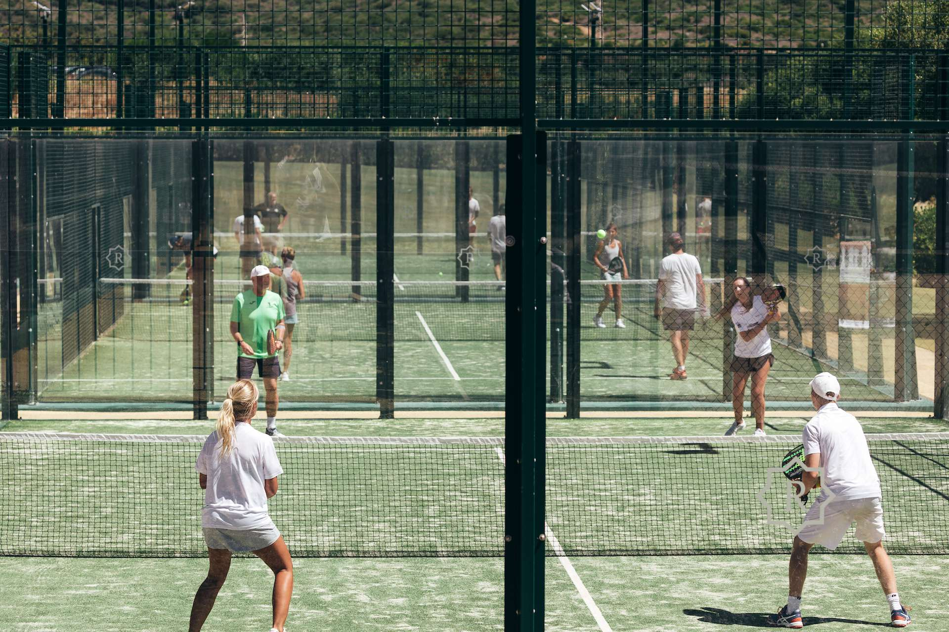 5 Glass-Walled Padel Courts Sotogrande