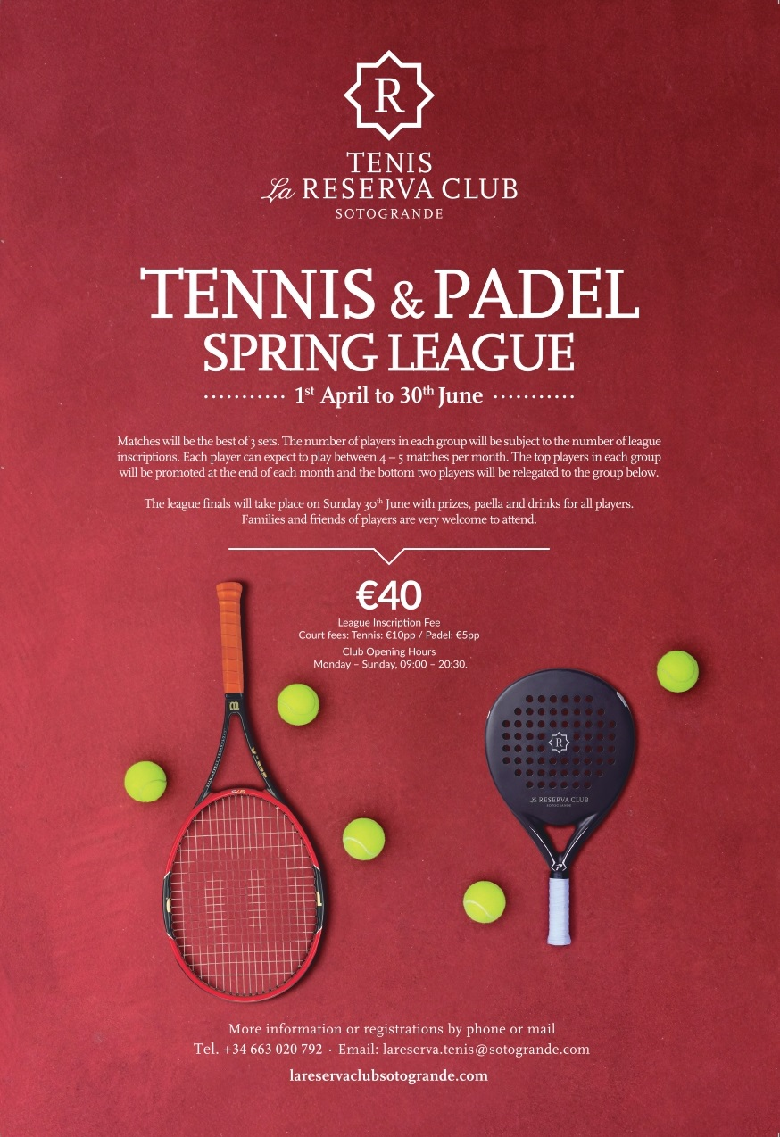 3d45ac3be68 TENNIS. Welcome to the tennis racquet centre at La Reserva Club.